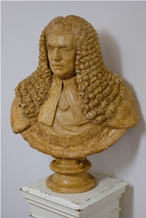 English Plaster Bust of Lord Ellenbourgh